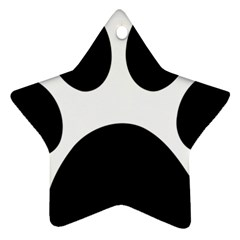 Paw Foot Print Star Ornament (two Sides)