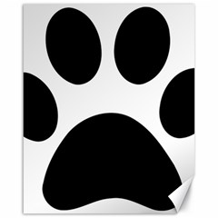 Paw Foot Print Canvas 16  X 20