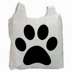 Paw Foot Print Recycle Bag (one Side) by goodart