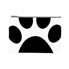 Paw Foot Print Cosmetic Bag (large)