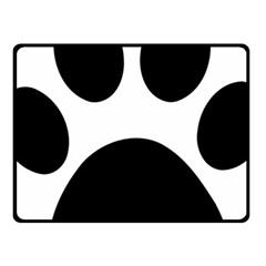Paw Foot Print Fleece Blanket (small)