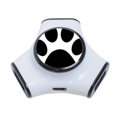 Paw Foot Print 3 Port Usb Hub