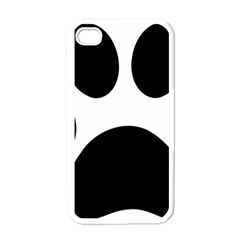 Paw Foot Print Apple Iphone 4 Case (white)