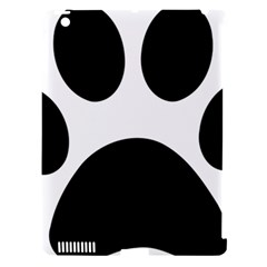 Paw Foot Print Apple Ipad 3/4 Hardshell Case (compatible With Smart Cover)
