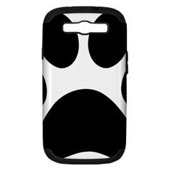 Paw Foot Print Samsung Galaxy S Iii Hardshell Case (pc+silicone)