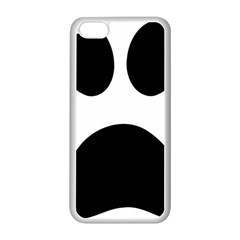 Paw Foot Print Apple Iphone 5c Seamless Case (white)
