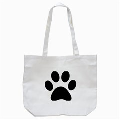 Paw Foot Print Tote Bag (white)