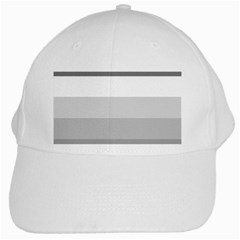 Elegant Shades Of Gray Stripes Pattern Striped White Cap