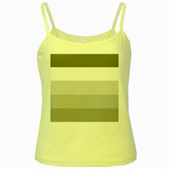 Elegant Shades Of Gray Stripes Pattern Striped Yellow Spaghetti Tank