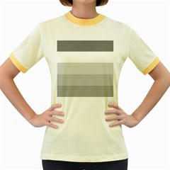 Elegant Shades Of Gray Stripes Pattern Striped Women s Fitted Ringer T Shirts