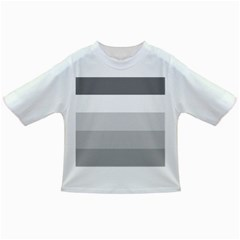 Elegant Shades Of Gray Stripes Pattern Striped Infant/toddler T Shirts