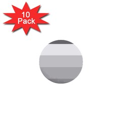 Elegant Shades Of Gray Stripes Pattern Striped 1  Mini Buttons (10 Pack)