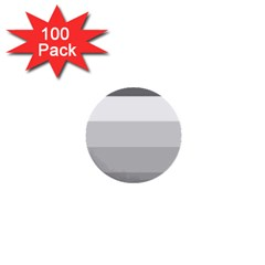 Elegant Shades Of Gray Stripes Pattern Striped 1  Mini Buttons (100 Pack)