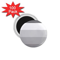 Elegant Shades Of Gray Stripes Pattern Striped 1 75  Magnets (100 Pack)