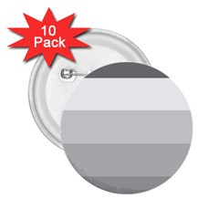 Elegant Shades Of Gray Stripes Pattern Striped 2 25  Buttons (10 Pack)