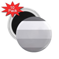 Elegant Shades Of Gray Stripes Pattern Striped 2 25  Magnets (10 Pack)