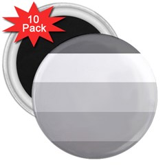 Elegant Shades Of Gray Stripes Pattern Striped 3  Magnets (10 Pack)