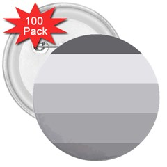 Elegant Shades Of Gray Stripes Pattern Striped 3  Buttons (100 Pack)