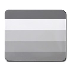 Elegant Shades Of Gray Stripes Pattern Striped Large Mousepads