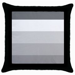 Elegant Shades Of Gray Stripes Pattern Striped Throw Pillow Case (black)