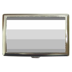 Elegant Shades Of Gray Stripes Pattern Striped Cigarette Money Cases