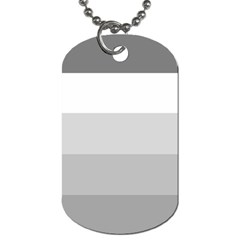 Elegant Shades Of Gray Stripes Pattern Striped Dog Tag (two Sides)