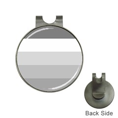 Elegant Shades Of Gray Stripes Pattern Striped Hat Clips With Golf Markers