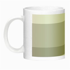 Elegant Shades Of Gray Stripes Pattern Striped Night Luminous Mugs