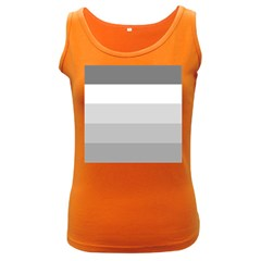 Elegant Shades Of Gray Stripes Pattern Striped Women s Dark Tank Top