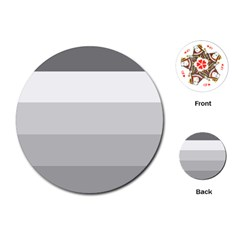 Elegant Shades Of Gray Stripes Pattern Striped Playing Cards (round)