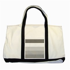 Elegant Shades Of Gray Stripes Pattern Striped Two Tone Tote Bag