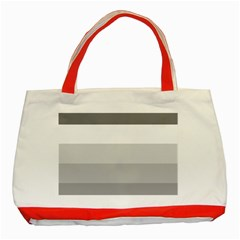 Elegant Shades Of Gray Stripes Pattern Striped Classic Tote Bag (red)