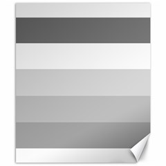 Elegant Shades Of Gray Stripes Pattern Striped Canvas 8  X 10