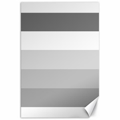 Elegant Shades Of Gray Stripes Pattern Striped Canvas 20  X 30