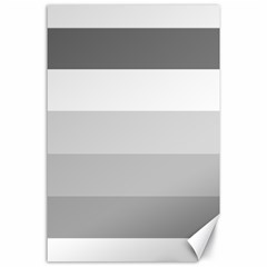 Elegant Shades Of Gray Stripes Pattern Striped Canvas 24  X 36