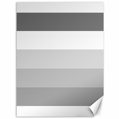 Elegant Shades Of Gray Stripes Pattern Striped Canvas 36  X 48