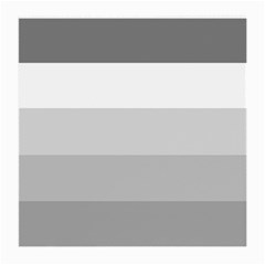 Elegant Shades Of Gray Stripes Pattern Striped Medium Glasses Cloth (2 Side)