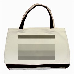 Elegant Shades Of Gray Stripes Pattern Striped Basic Tote Bag (two Sides)