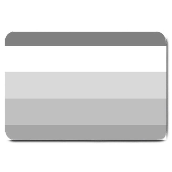 Elegant Shades Of Gray Stripes Pattern Striped Large Doormat