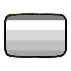 Elegant Shades Of Gray Stripes Pattern Striped Netbook Case (medium)