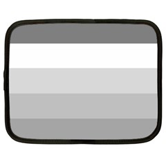 Elegant Shades Of Gray Stripes Pattern Striped Netbook Case (large)