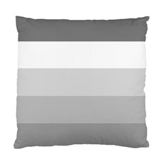Elegant Shades Of Gray Stripes Pattern Striped Standard Cushion Case (two Sides)