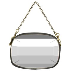 Elegant Shades Of Gray Stripes Pattern Striped Chain Purses (two Sides)