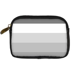 Elegant Shades Of Gray Stripes Pattern Striped Digital Camera Cases