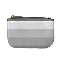 Elegant Shades Of Gray Stripes Pattern Striped Mini Coin Purses