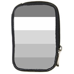 Elegant Shades Of Gray Stripes Pattern Striped Compact Camera Cases