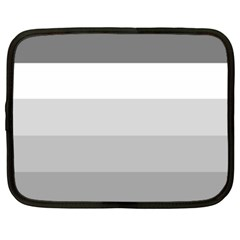 Elegant Shades Of Gray Stripes Pattern Striped Netbook Case (xxl)