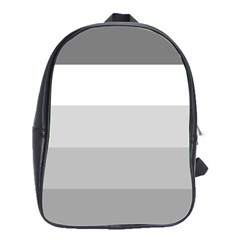 Elegant Shades Of Gray Stripes Pattern Striped School Bag (large)