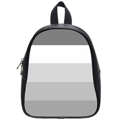 Elegant Shades Of Gray Stripes Pattern Striped School Bag (small)