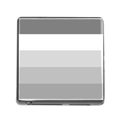 Elegant Shades Of Gray Stripes Pattern Striped Memory Card Reader (square)